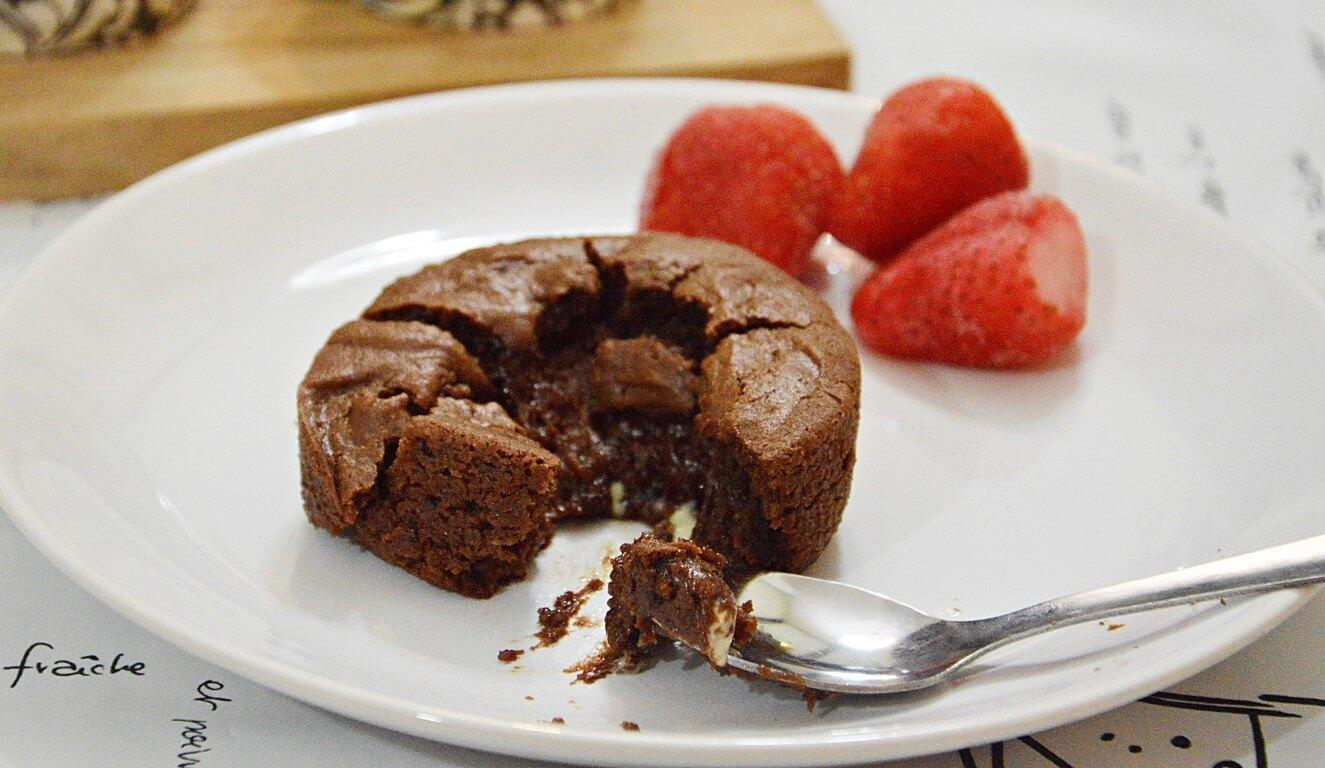 עוגת שוקולד חמה ללא גלוטן