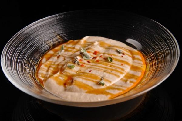 קרם חציל וסילאן של מסעדת FISH, צילום: גליה אבירם