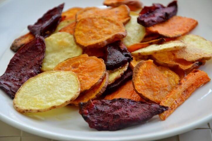 צ יפס ירקות בתנור