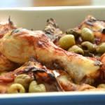 עוף עם זיתים בתנור