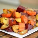 ירקות שורש בתנור