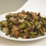 שעועית ירוקה ופטריות