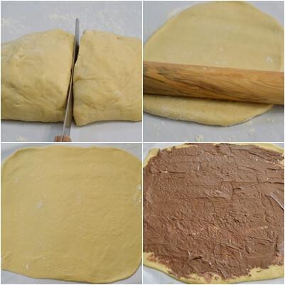 שלבי הכנה- עוגת שמרים שוקולד