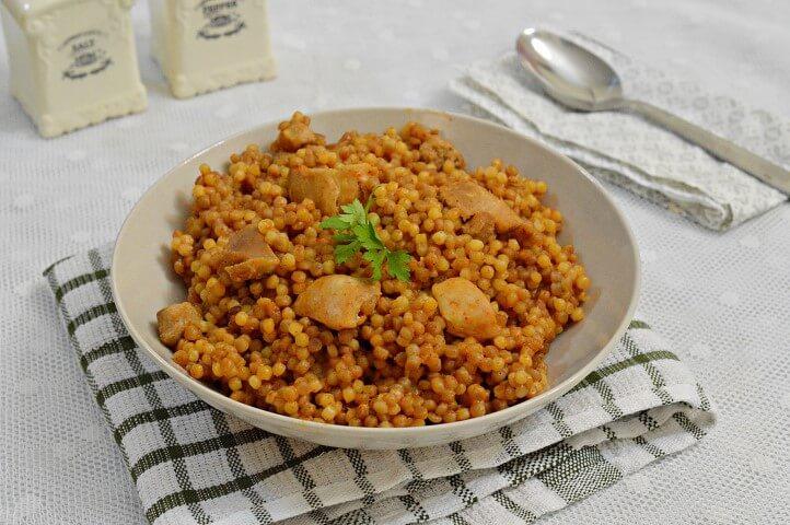 אורז עם פרגיות ופפריקה