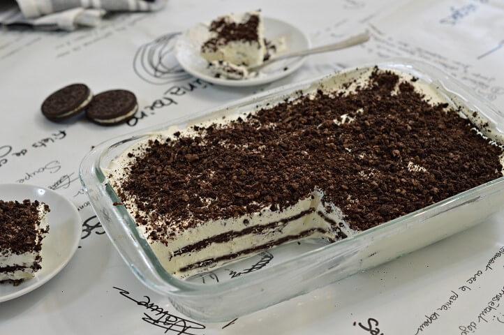 עוגת אוראו ושוקולד לבן