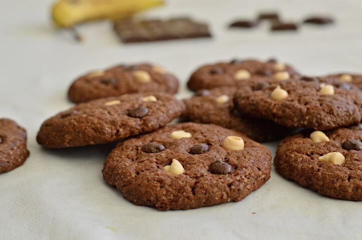 עוגיות שוקולד ובננה