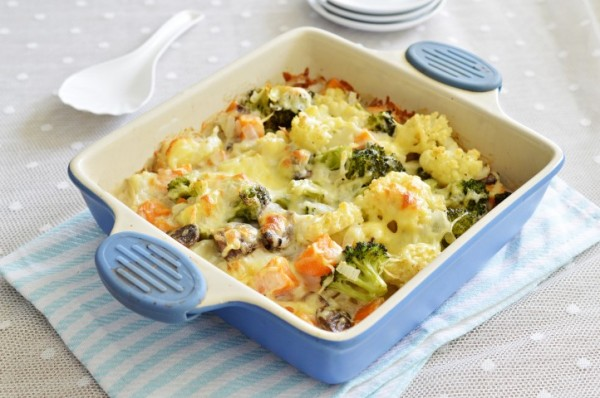 ירקות מוקרמים בתנור