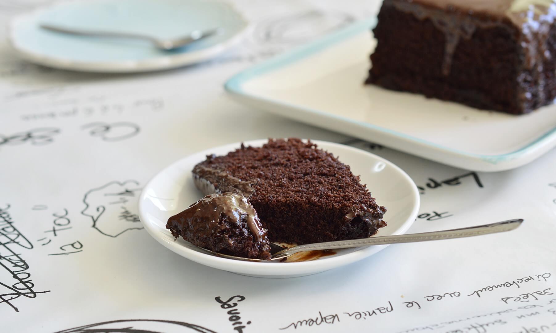 עוגת שוקולד במיקרוגל
