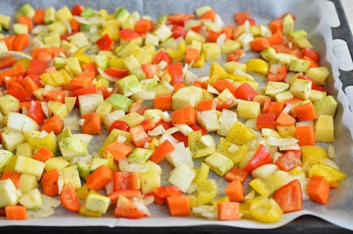 סלט ירקות אפויים