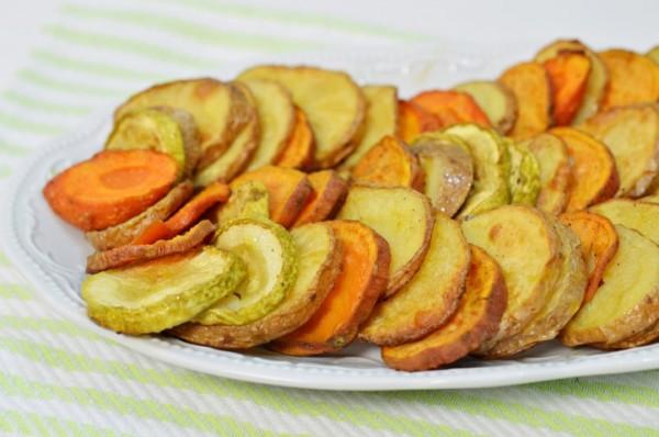 פרוסות ירקות בתנור