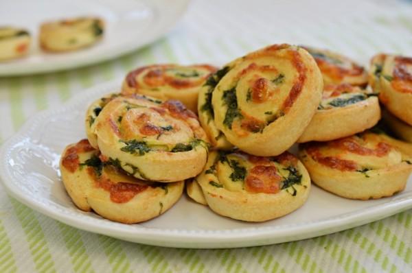 שבלולי גבינה ותרד