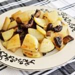 קולורבי ופטריות בתנור