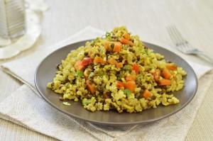 אורז מלא עם עדשים וירקות
