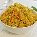 אורז מלא עם כוסמת וירקות
