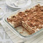עוגת גבינה וביסקוויטים