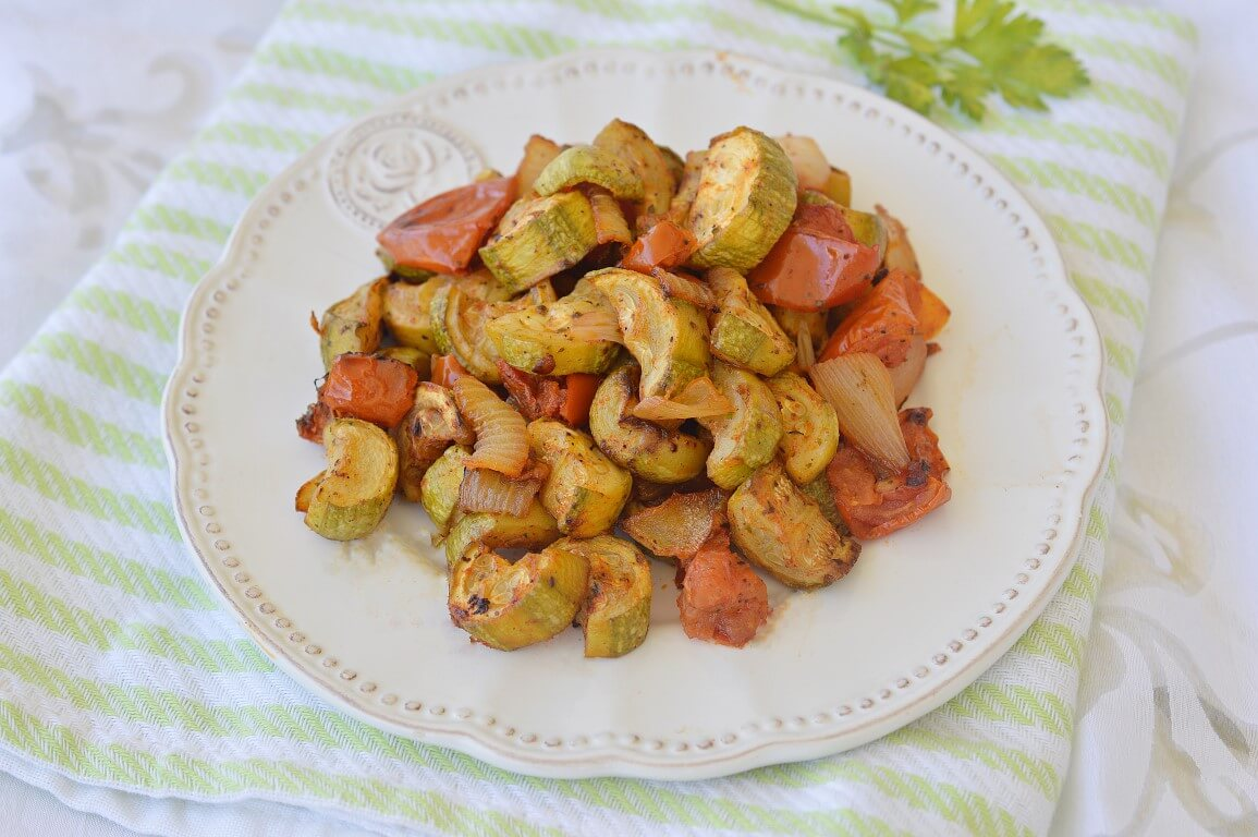 קישואים ועגבניות בתנור