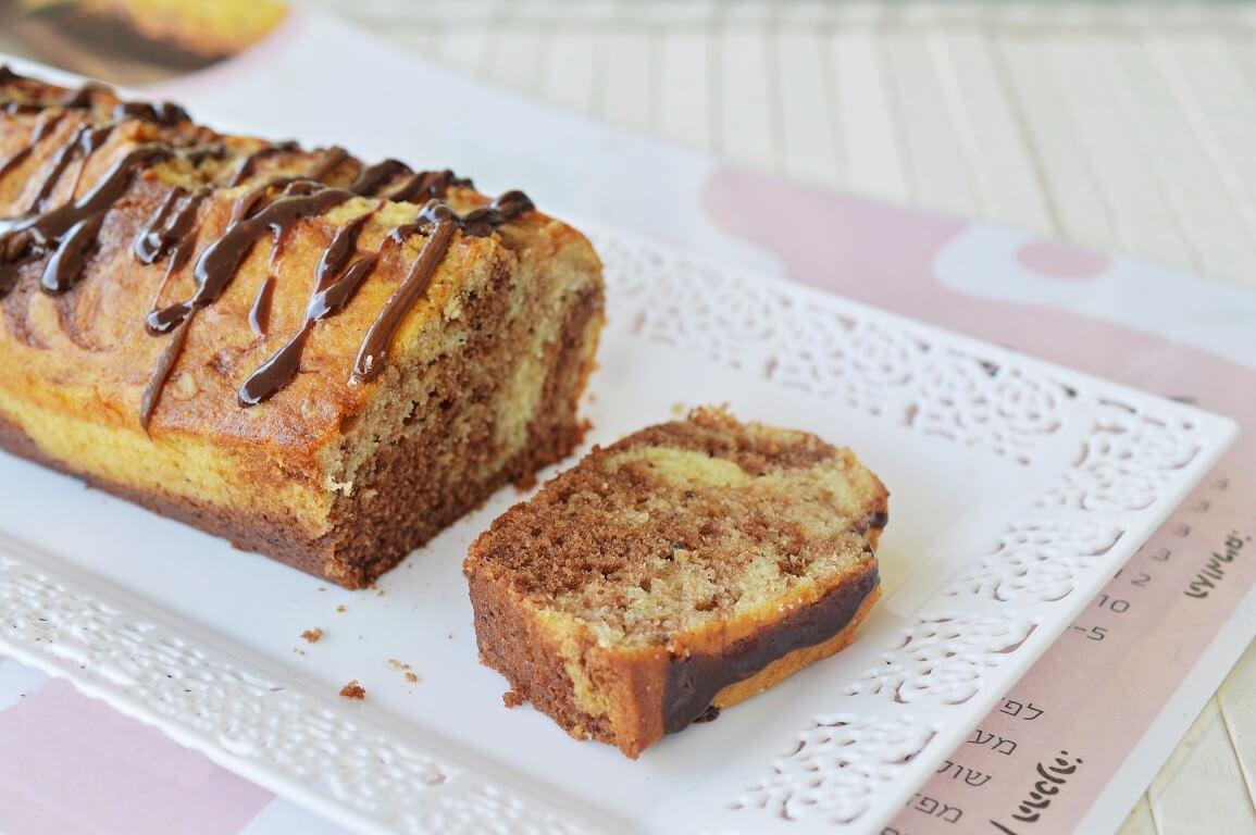 עוגת שיש נוטלה