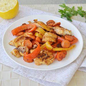 דג מוקפץ עם ירקות