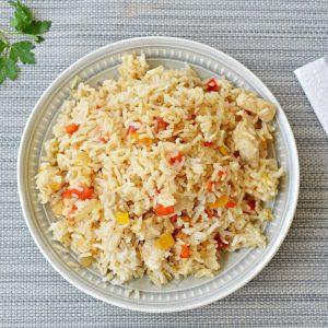 אורז עם פלפלים וחזה עוף