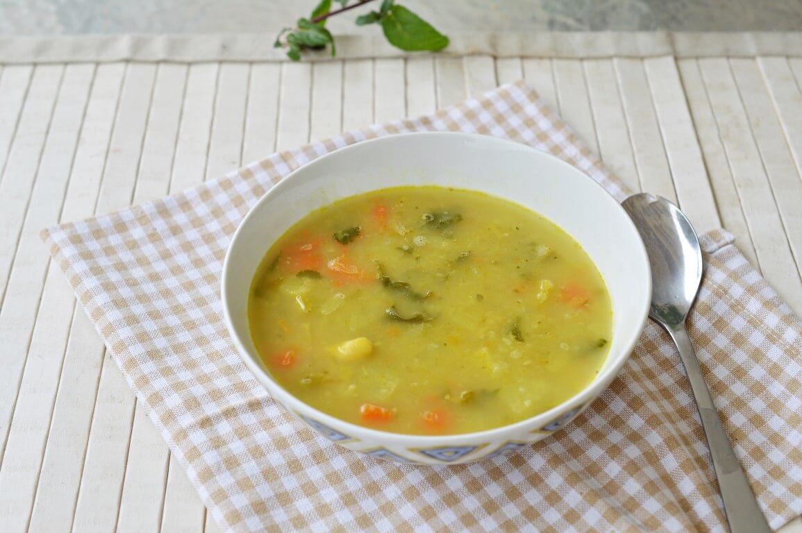מרק ירקות עם שעועית