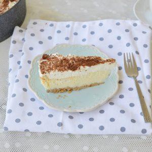 עוגת גבינה עם קרם גבינה