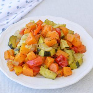 דלעת עם ירקות בתנור