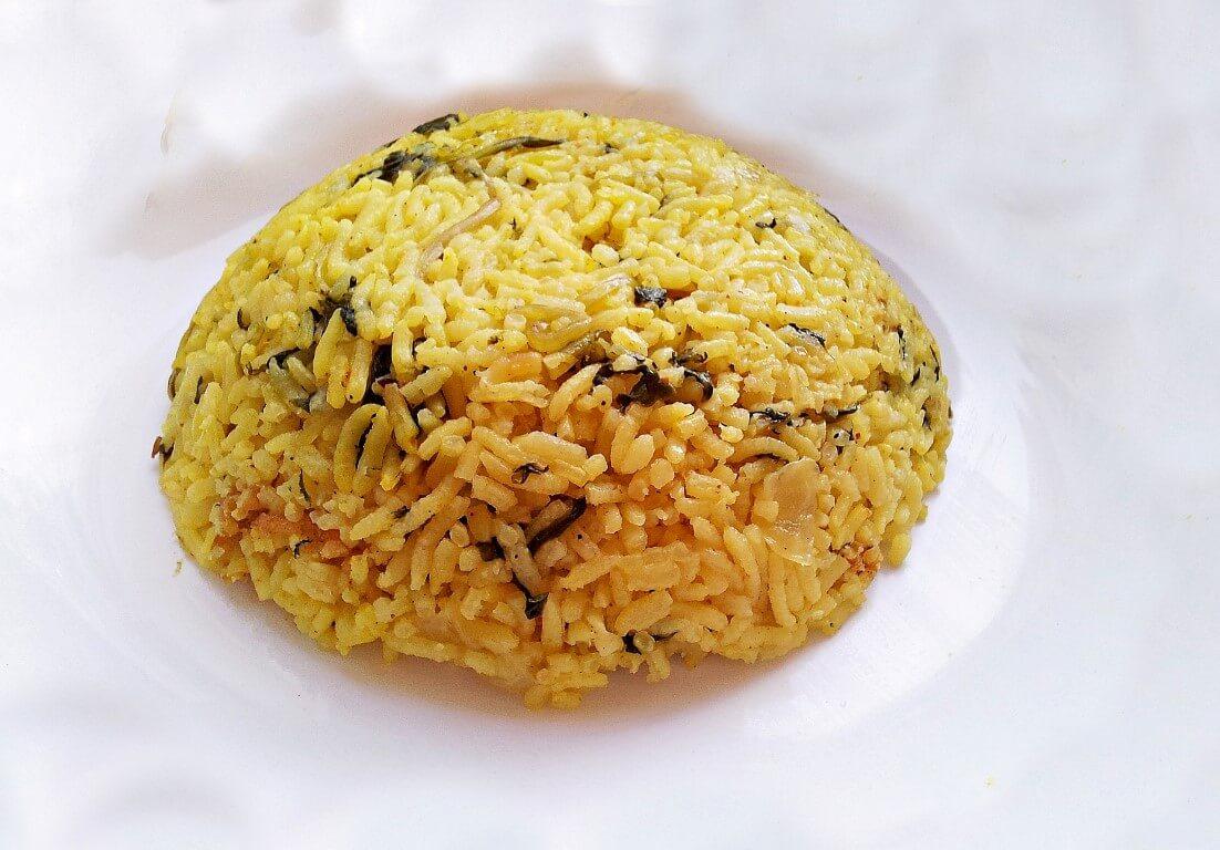 אורז עם תרד