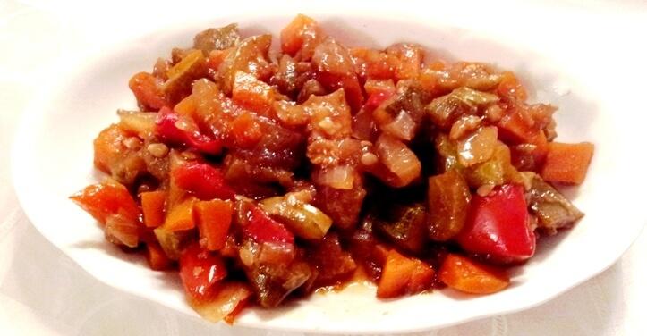 סלט ירקות מבושלים בצ'ילי