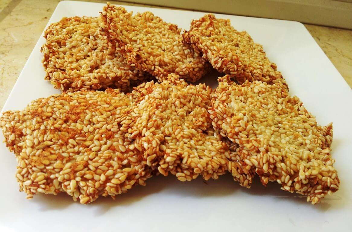 עוגיות שומשום ללא סוכר
