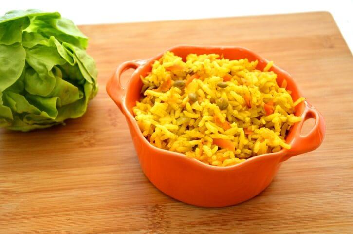 אורז עם גזר, קישואים ועדשים