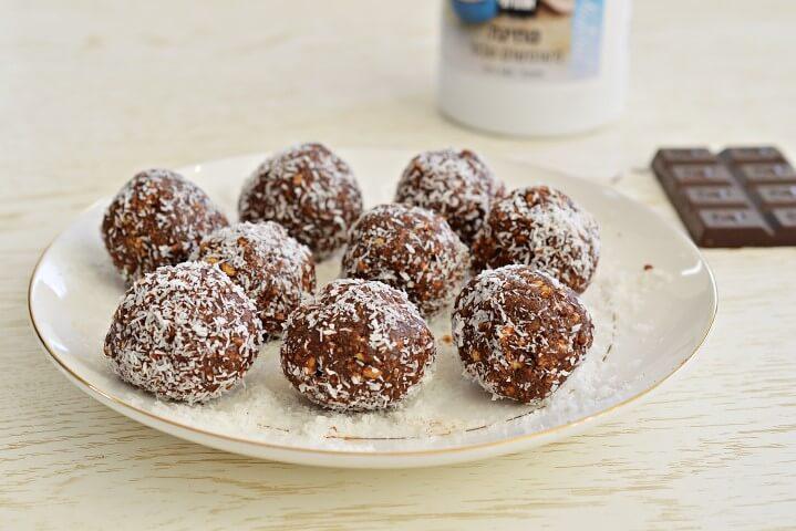 כדורי שוקולד ללא חמאה