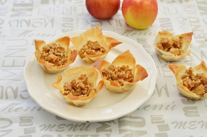 סלסלות פילו במילוי תפוחים