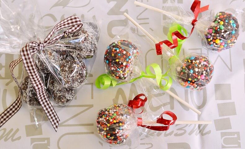 כדורי שוקולד למשלוח מנות