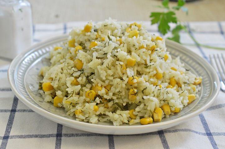 אורז עם תירס ושמיר