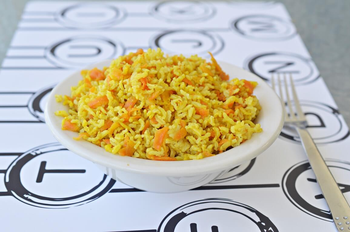 אורז מלא עם גזר