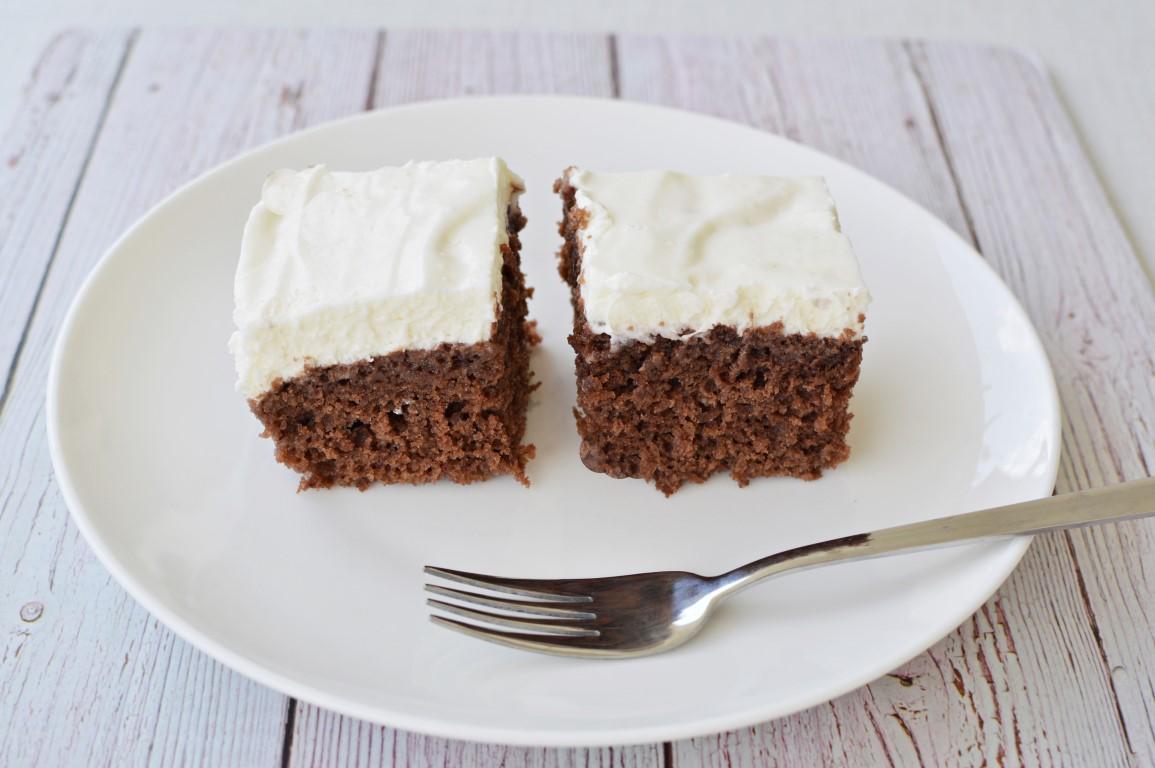 עוגת שוקולד וקרם גבינה