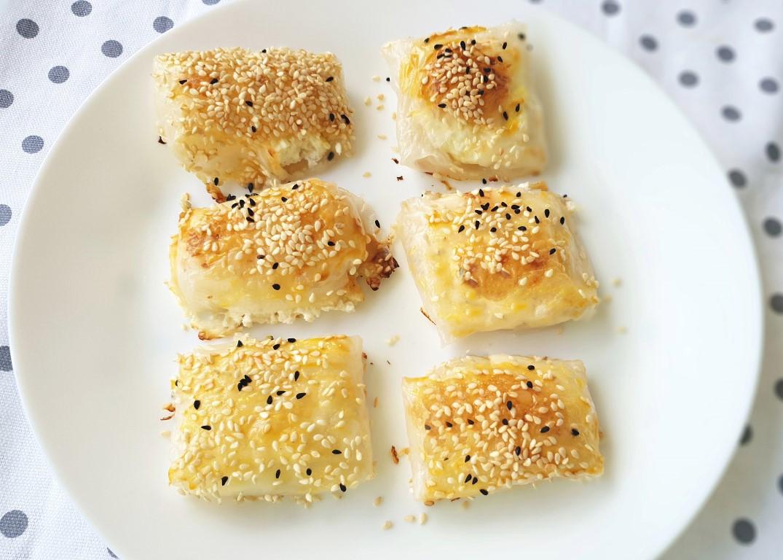 בורקס גבינה מדפי אורז