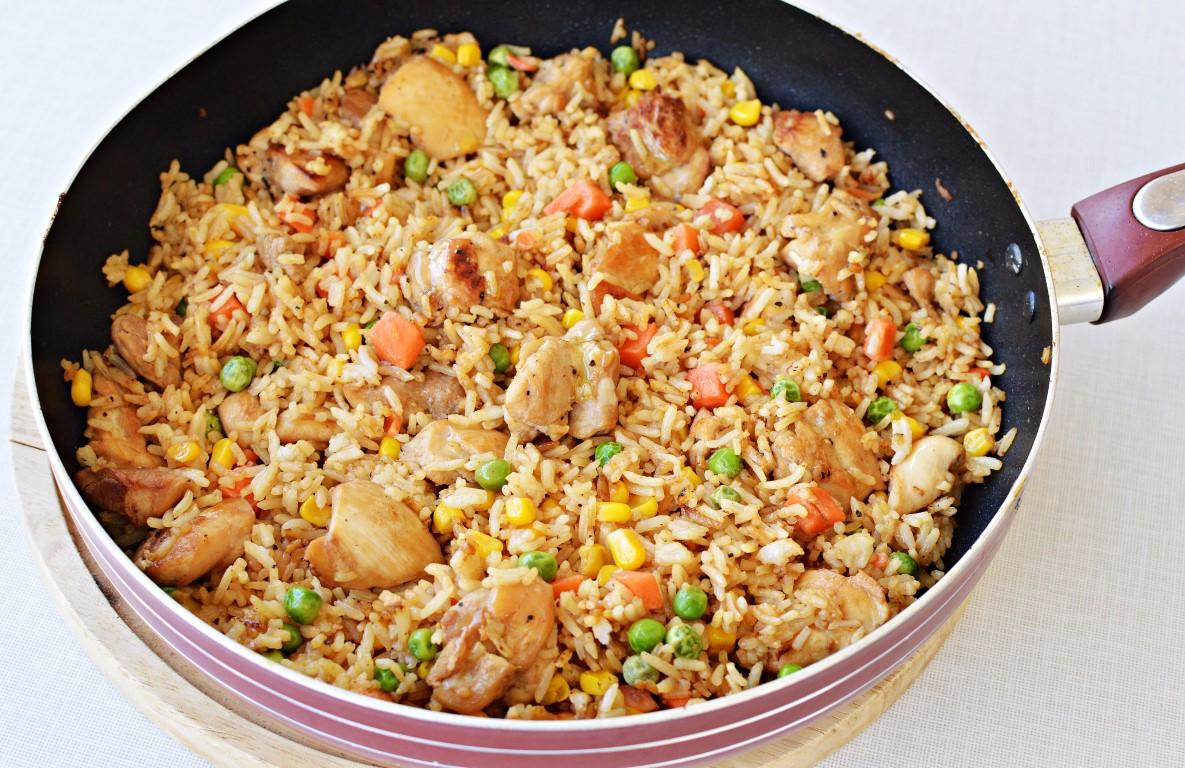 אורז מוקפץ עם פרגית