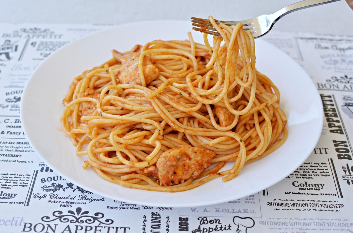 ספגטי עם חזה עוף