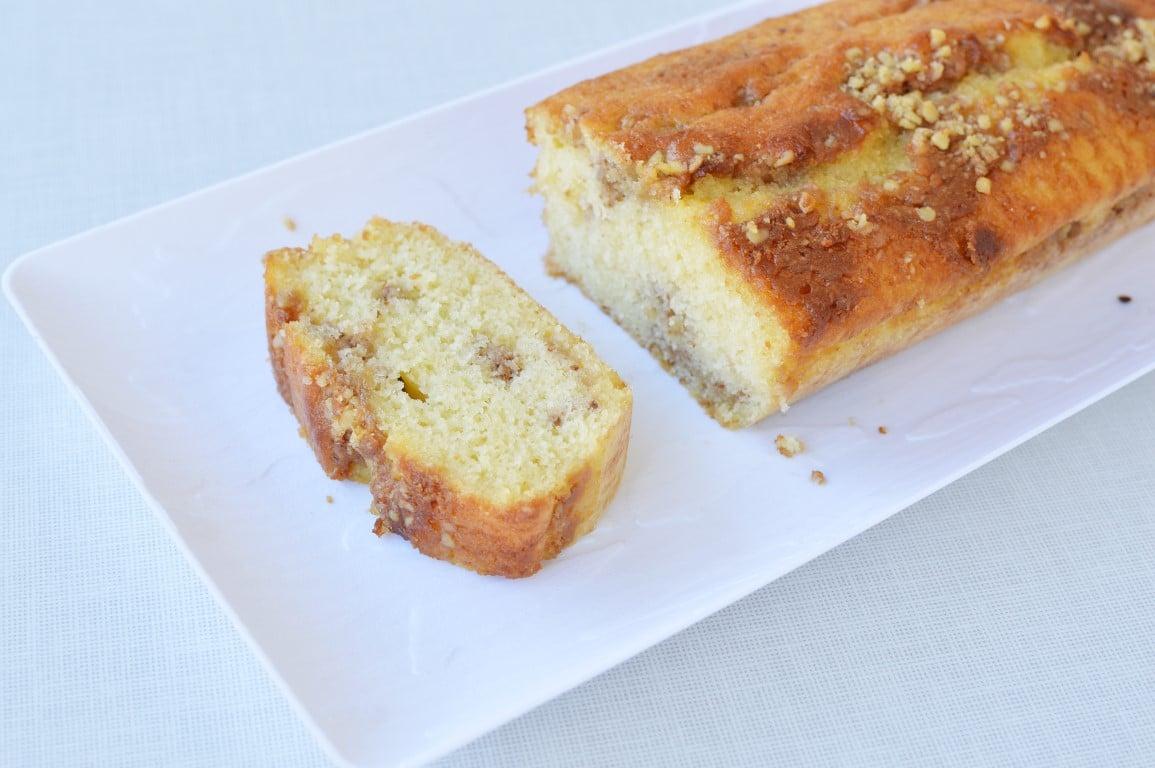 עוגה במילוי טחינה ואגוזים