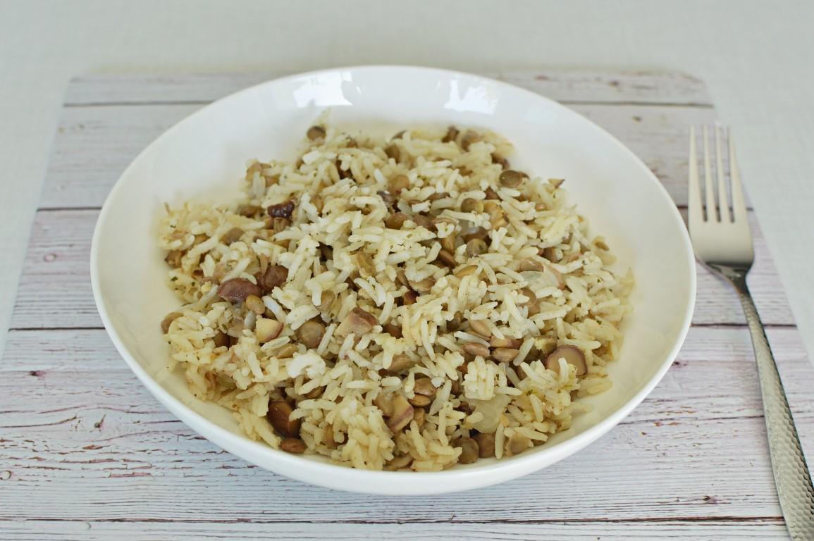 אורז עם עדשים וערמונים